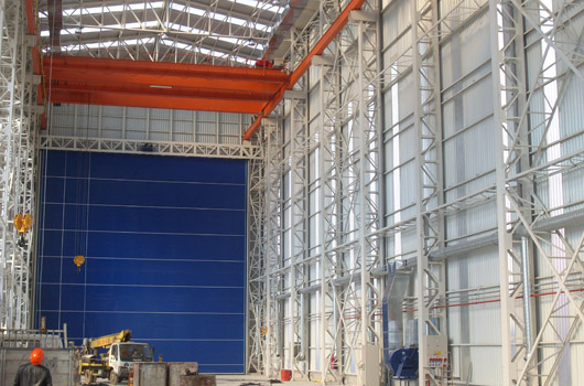 Shipyard Ship Shed Construction Phase 1 Yonar